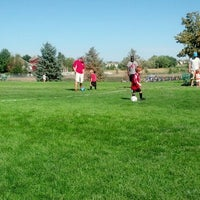 Photo taken at Soccer Fields @ Legacy High School by Ronda C. on 9/7/2013