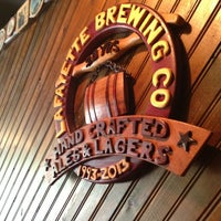 Photo taken at Lafayette Brewing Company by Emily B. on 6/1/2013