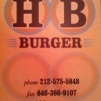 Photo taken at HB Burger by Julio B. on 12/22/2012
