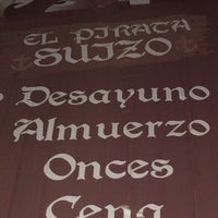 Photo taken at El Pirata Suizo by Adrian H. on 2/28/2014