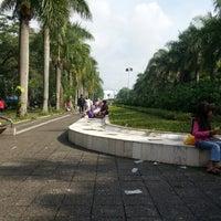 Photo taken at Lapangan Gasibu by Awan R. on 12/16/2012