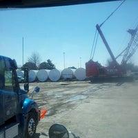 Photo taken at tower storage yard by David C. on 3/19/2013