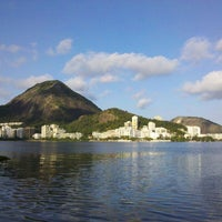 Photo taken at Lagoa Rodrigo de Freitas by Italo A. on 7/28/2013