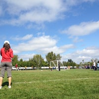Photo taken at Edwards Soccer Field by Bernard D. on 9/22/2012