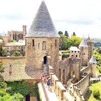 Photo taken at Château Comtal de la Cité de Carcassonne by Maria P. on 7/20/2014