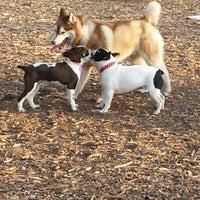 Photo taken at Cunningham Park Dog Run by Susie C. on 4/21/2014