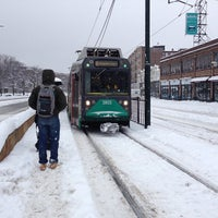 Photo taken at MBTA Bus Stop | Packards Corner by Quan X. on 2/5/2014