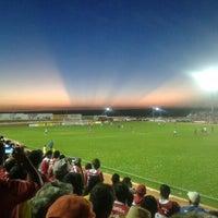 Photo taken at Estádio Municipal José Nazareno do Nascimento (Nazarenão) by Yvan L. on 4/1/2013