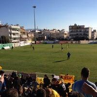 Photo taken at Γήπεδο Αχαρναϊκού by Kostas D. on 12/8/2013