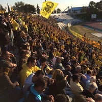 Photo taken at GSZ stadium by Christos L. on 2/16/2014