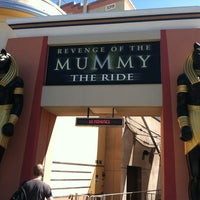Photo taken at Revenge of the Mummy - The Ride by Ben Z. on 9/28/2012