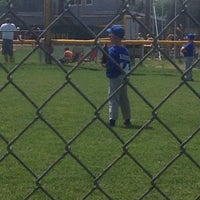 Photo taken at Russiaville Baseball Diamond by Jen G. on 6/1/2014