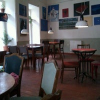 Photo taken at Cafe Gallery • კაფე გალერი by Elena P. on 1/6/2013
