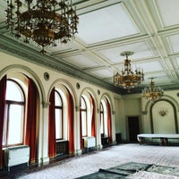 Photo taken at Palatul Snagov by Anna S. on 2/24/2016