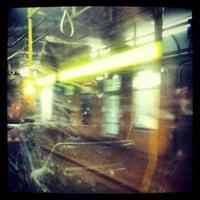 Photo taken at Palmovka (tram, bus, trol) by Daniel D. on 11/28/2012