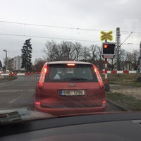 Photo taken at Železniční přejezd Jaroměř by sambar439 on 12/23/2017