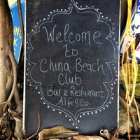 Photo taken at China Beach Club by Roger P. on 8/17/2014
