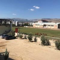Photo taken at Mut İlçe Stadyumu by Kerim T. on 9/13/2018