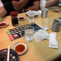Photo taken at 回転寿司まるくに 住吉店 by いざよー あ. on 8/14/2016