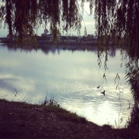 Photo taken at Озеро «Райдужне» by Juliya Y. on 10/19/2012
