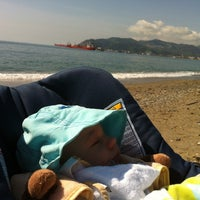 Photo taken at Spiaggia delle Fornaci by Massimo S. on 5/4/2013