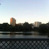 Photo taken at Lietzenseebrücke by Sofia A. on 9/29/2013