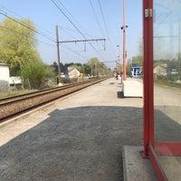 Photo taken at Gare de Bierges-Walibi by Justin F. on 4/8/2017