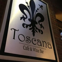 Photo taken at Toscana Cafe & Wine Bar by Monique R. on 4/10/2013