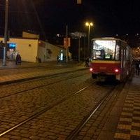 Photo taken at Malostranská (tram) by Ilja C. on 12/25/2012
