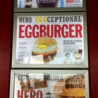Photo taken at Hero Certified Burgers by Christine on 5/16/2014