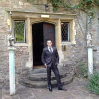 Photo taken at Miskin Manor Hotel by Sam T. on 6/8/2013