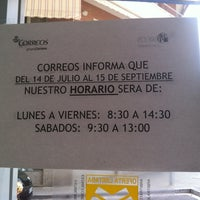 Photo taken at Oficina Correos by Miguel A. M. on 7/19/2014