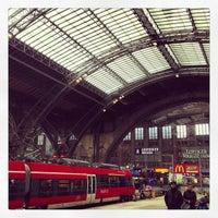 Photo taken at Leipzig Hauptbahnhof by Bjoern E. on 3/22/2013