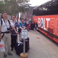 Photo taken at BoltBus Midtown Stop by Zheng S. on 6/22/2014