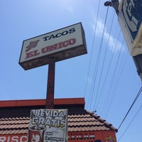 Photo taken at Tacos El Unico #14 by sneakerpimp on 7/30/2014