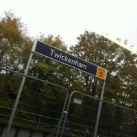 Photo taken at Twickenham Railway Station (TWI) by Jonathan C. on 10/23/2012