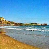Photo taken at Playa de Salinas / San Juan de Nieva by jmiguel r. on 5/4/2013