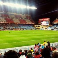 Photo taken at Estadio Vicente Calderón by jmiguel r. on 11/28/2012