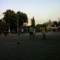 Photo taken at Lapangan Futsal SMP Katolik Rajawali by Vincent A. on 10/12/2012