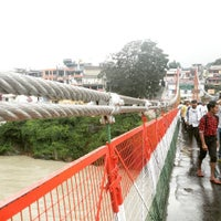 Photo taken at Lakshman Jhula | लक्ष्मण झूला by Rain D. on 8/14/2016