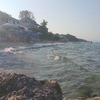 Photo taken at Almyra Beach Bar by Fotis V. on 7/15/2017