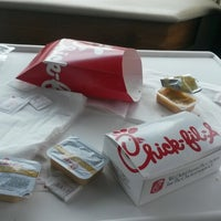 Photo taken at Chick-fil-A Albemarle Road by Tracey J. on 6/28/2014