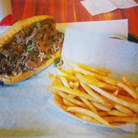 Photo taken at ForeFathers Gourmet Cheesesteaks & Fries by Jason R. on 12/21/2012