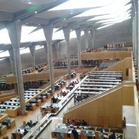 Photo taken at Bibliotheca Alexandrina by Melissa S. on 1/26/2013