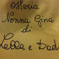 Photo taken at Osteria Nonna Gina by Nathali D. on 8/9/2014