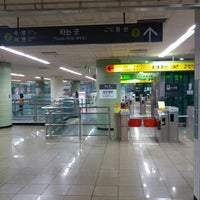 Photo taken at Jung-dong Stn. by Jay B. on 5/6/2016