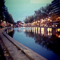 Photo taken at Canal Saint-Martin by Malo R. on 11/20/2012