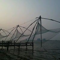 Photo taken at Fort Kochi Beach by Harun P. on 1/6/2013