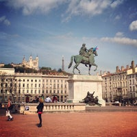 Photo taken at Place Bellecour by Pinay Flying H. on 4/16/2013