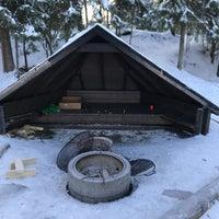 Photo taken at Paavonpolun Pulkkamäki by Lauri K. on 2/18/2018